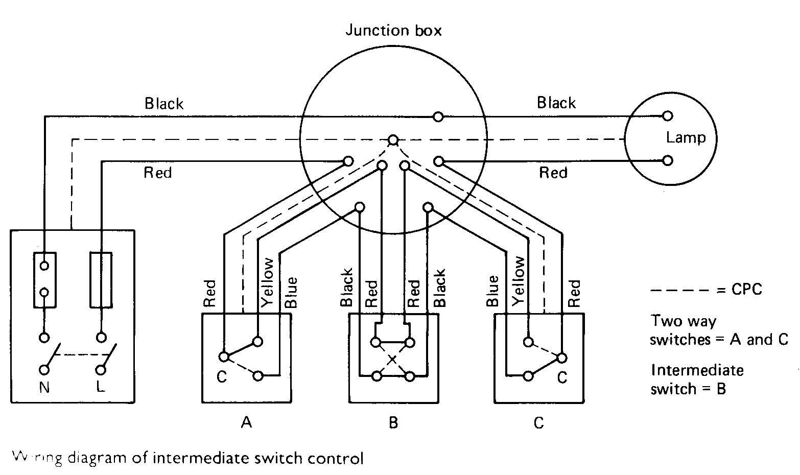 Two way light switch int on one light two switches wiring diagram
